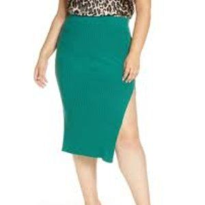 Leith NWT Plus Size Ribbed Knit Sweater Skirt